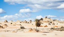Ausländischer moonscape See Mungo Australia Lizenzfreies Stockfoto