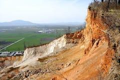 Ausnutzung einer Steingrube stockfotos