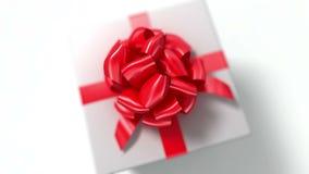 Auspacken eines Geschenks schöne Animation 3d mit einer Schärfentiefe