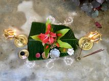 Hindu tradition of welcoming guests Royalty Free Stock Photography