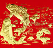 Auspicious double fish Stock Images