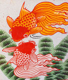 Auspicious double fish Royalty Free Stock Photography