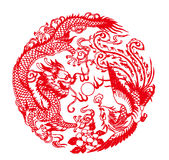 Auspicious Dragon and Phoe Stock Photography