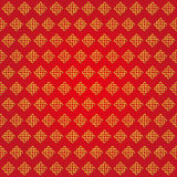 Auspicious Endless knots Chinese pattern.Red,Gold. Endless Auspicious knot pattern on red background.China,Tibet,Eternal,Buddhism and Spirituality icon,symbol royalty free illustration