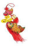 Auspicious Fish and Gold Ingot ornaments Royalty Free Stock Image