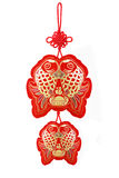 Auspicious Fish Ornaments Stock Photo