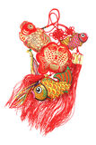 Auspicious Fish Ornaments Stock Image