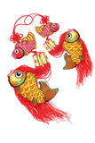 Auspicious Fish Ornaments Royalty Free Stock Photos