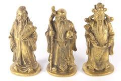 auspicious kinesisk trinity för shou för fugudlu royaltyfri foto