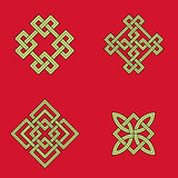 Auspicious knots Stock Images