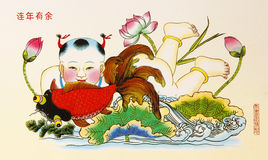 Auspicious Painting. Chinese New Year Royalty Free Stock Image