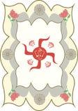 The auspicious symbol. Hindu Swastika and Shri Ganesha stock illustration