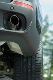 Auspuffrohr des neuen Autos. Lizenzfreies Stockfoto