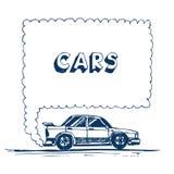 AUSPUFFspracheluftblase des Autos durchbrennen Stockfoto