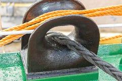 Ausrüstung abovedeck Schiff Lizenzfreies Stockfoto