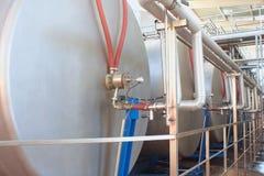 Ausrüstung auf Produktionswein Stockbild