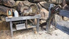 Ausrüstung auf Tabelle Stockbild