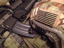 Ausrüstung der AMERIKANISCHEN Armee Stockfotos