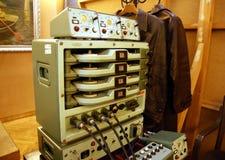 Ausrüstung der kommunistischen Geheimagenten Stockfotos