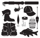 Ausrüstung des Fischers Lizenzfreies Stockfoto