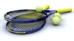 Ausrüstung des Tennis 3d Lizenzfreies Stockfoto