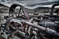 Ausrüstung des verlassenen Bergmannes in Kolorado stockfotografie