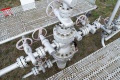 Ausrüstung einer Ölquelle Lizenzfreie Stockfotografie