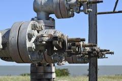 Ausrüstung einer Ölquelle Stockbild