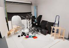 Ausrüstung eines fotographischen Studios Lizenzfreie Stockfotos