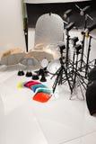 Ausrüstung eines fotographischen Studios Lizenzfreies Stockfoto