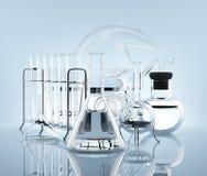 Ausrüstung für Chemieexperimente Stockfoto