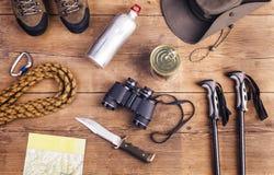 Ausrüstung für das Wandern Lizenzfreie Stockbilder