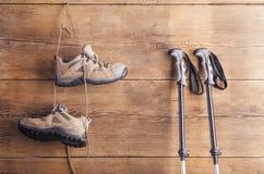 Ausrüstung für das Wandern Stockfotos