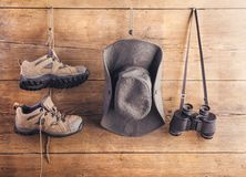 Ausrüstung für das Wandern Lizenzfreies Stockfoto