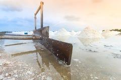 Ausrüstung für die Salzherstellung Stockfotos