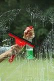 Ausrüstung für Fensterreinigung Stockbild