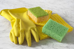 Ausrüstung für Hausarbeit Stockbild