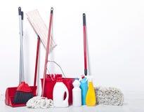 Ausrüstung für Reinigung Lizenzfreies Stockfoto