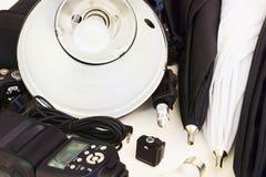 Ausrüstung für Studiophotographie Lizenzfreies Stockbild