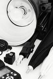 Ausrüstung für Studiophotographie Stockfoto