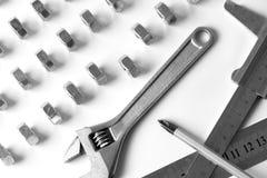 Ausrüstung fow Arbeit Stockfoto