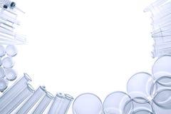 Ausrüstung im Wissenschafts-Forschungs-Laborhintergrund Stockfoto
