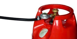 Ausrüstung mit Gasversorgung Stockfotografie