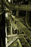 Ausrüstung, Seilzüge und Rohrleitung Stockfoto