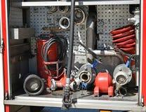 Ausrüstungen des Firetruck lizenzfreie stockbilder