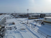 Ausrüstungsölfelder von West-Sibirien lizenzfreies stockbild