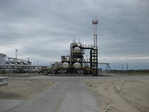 Ausrüstungsölfelder von West-Sibirien stockfotos