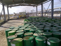 Ausrüstungsölfelder von West-Sibirien stockfotografie