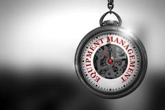 Ausrüstungs-Management auf Taschen-Uhr Abbildung 3D Lizenzfreies Stockbild