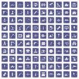100 Ausrüstungsikonen stellten Schmutzsaphir ein Stockfotografie
